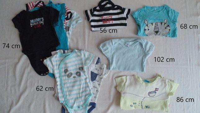 MEGAPAKA z ubraniami dla niemowlaka rozm. 50, 56, 62, 68, 74, 80, 86..