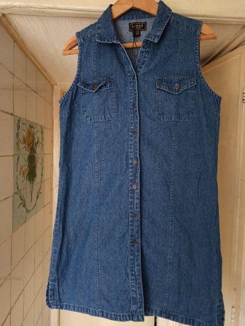 Платье сарафан джинсовое