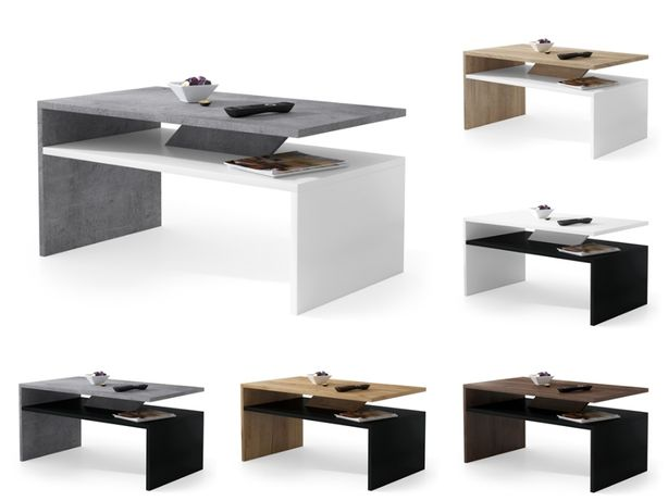 PRIMA 7 kolorów (biały, beton, czarny) NOWOCZESNA ŁAWA STOLIK Mazzoni