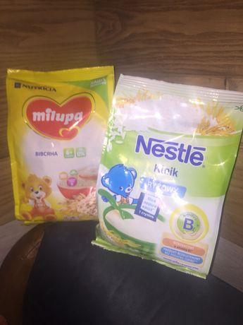 Безмолочные каши Milupa и Nestle