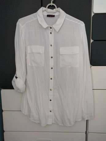 Biała koszula z regulowanym rękawem EMG 40