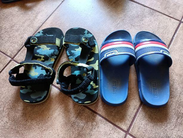 Sandały Reserved i klapki 30
