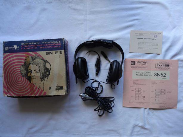 Słuchawki nagłowne Unitra Tonsil SN26 hi-fi PRL Vintage 1976