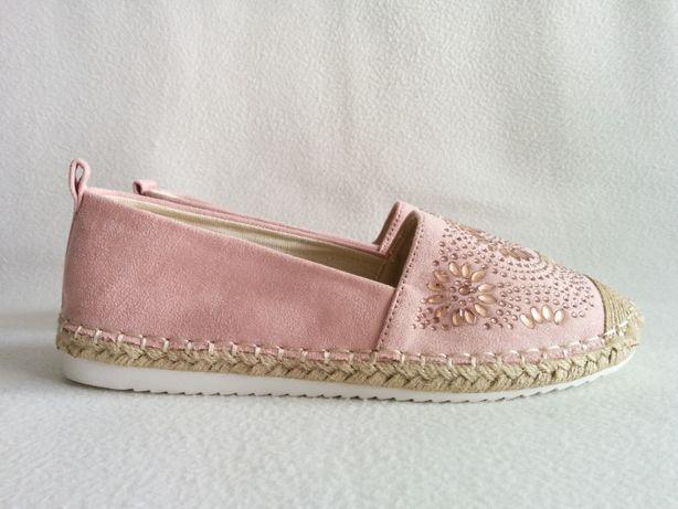 NOWE letnie różowe buty ESPADRYLE