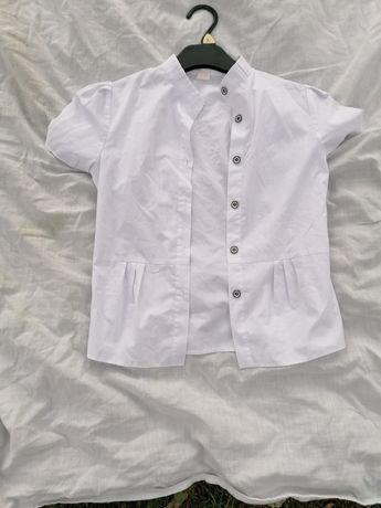 Biała koszula elegancka dziewczęca 146 galowa