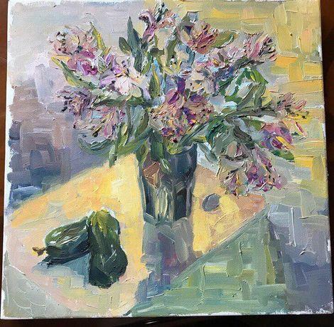 Картина маслом. 30×30 Холст с подрамником
