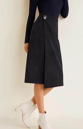 Кожаная юбка Манго
