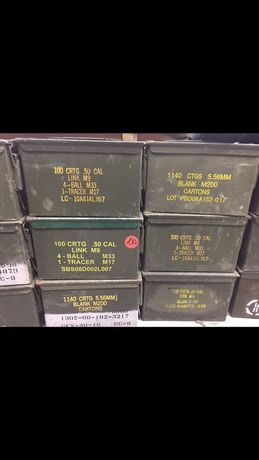 Caixa de munição do Exército dos EUA 40 mm
