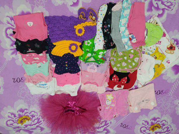 Комплект одежды для девочки 0-3 мес боди человечек комбинезон ползунки