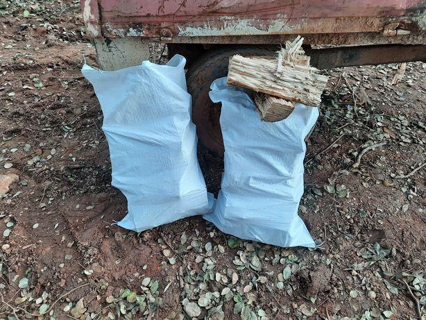 Lenha ecológica sacos de  30 a 40 kg Sobreiro e Oliveira