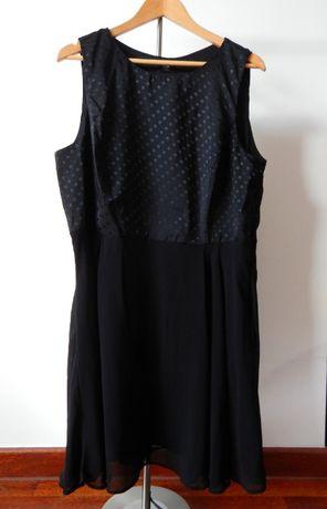 Czarna sukienka F&F 4XL groszki