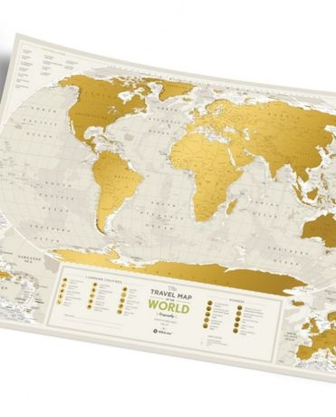 Travel Map Geography, Silver, Gold