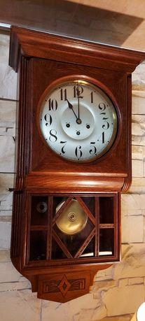 Stary zegar ścienny kwadransowy Junghans
