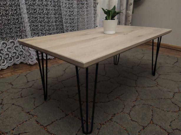 Śliczny stół stolik, dębowy, nogi typu hairpin