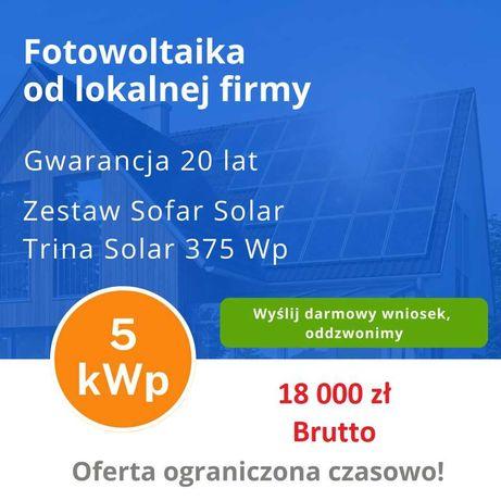Fotowoltaika od lokalnej firmy. 5kW 18 000 zł 10kW 31 000zł