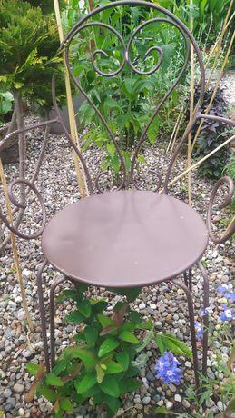 Krzesła metalowe ogrodowe ciężkie stabilne