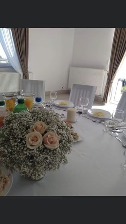 Szkalne podstawki dekoracja ślub wesele