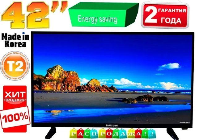 """Распродажа! Телевизоры Samsung Slim 42"""" LED,T2, USB, HDMI,FullHD,КОРЕЯ"""