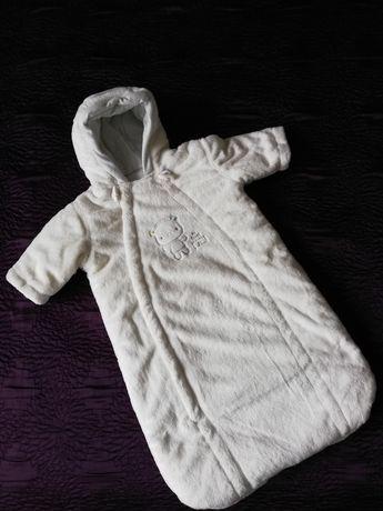 Kombinezon śpiworek ocieplany Mothercare 3-6 miesięcy