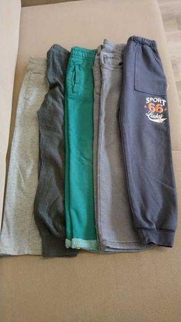 Spodnie chłopięce rozm. 116 dresowe, jeansy