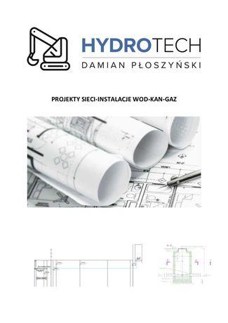 biuro projektowe Projekt wod KAN gaz INSTALACJE przyłącza POR