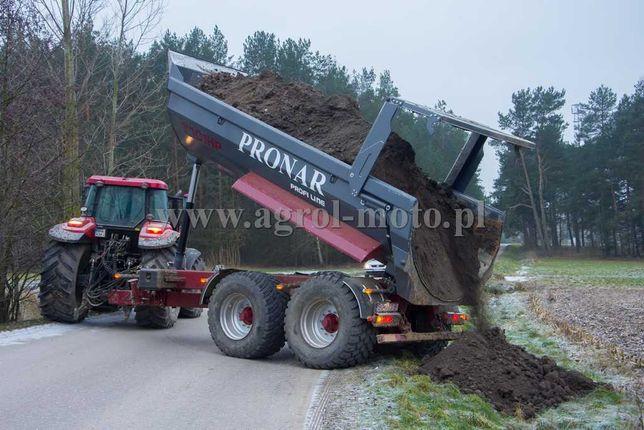 Przyczepa budowlana PRONAR T701 HP tandem typ HALFPIPE