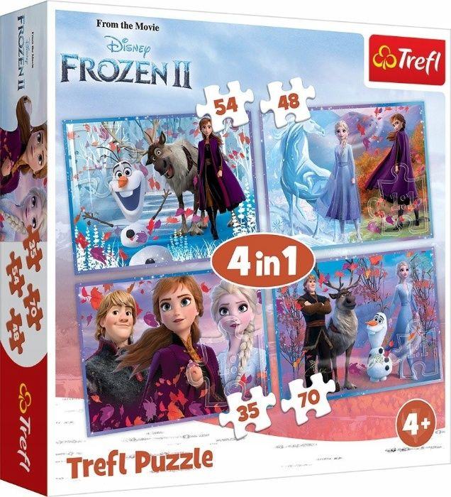 Puzzle Kraina Lodu II Frozen 4w1 NOWE Bydgoszcz - image 1