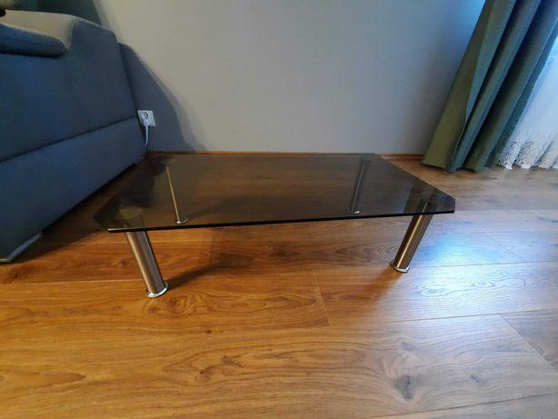 Szklany stolik pod TV lub głośnik