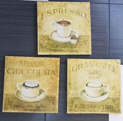 Obrazki kwadratowe kawa  kuchnia motyw kawy