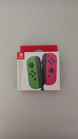 Mandos Joy Cons Nintendo Switch Verde e Rosa Neon (Novo e Selado)