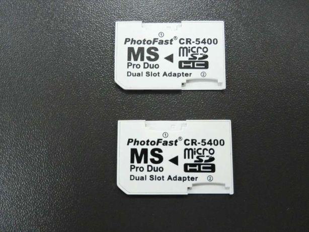 PSP - Adaptador MicroSD para Memory Stick + Caixa Arquivadora