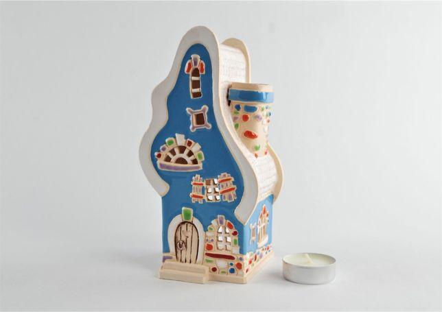 """Уникальный подарок сказочный домик """"Вогник;. Керамика подсвечник-арома"""