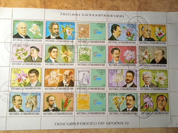 Почтовые марки Куба 1989г