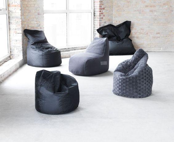 Кресло детское серое мягкое кресло-мешок стул для ребенка кресло