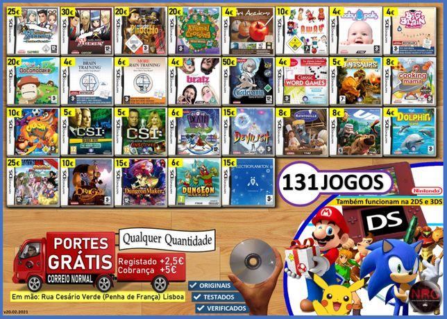 [NDS] 131 Jogos Nintendo DS (PORTES GRÁTIS) (leia a descrição)