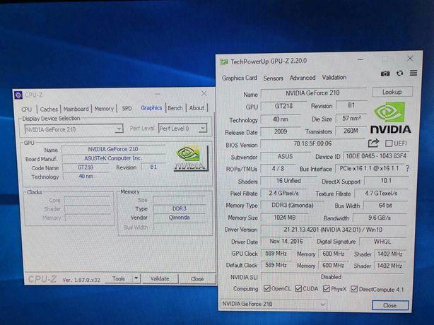 NVIDIA GeForce 210 1gb/64bit ASUS