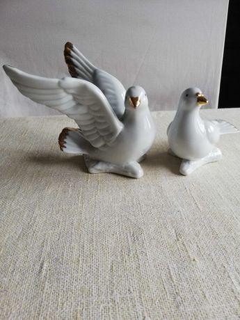 Porcelanowe figurki ptaszków EM