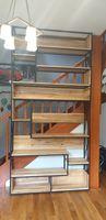 Regał industrialny/loft. Regał składany lite drewno. 300x150x36.