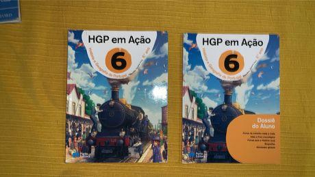 """Manuais """"HGP em ação 6"""" - História e Geografia de Portugal 6°ano"""