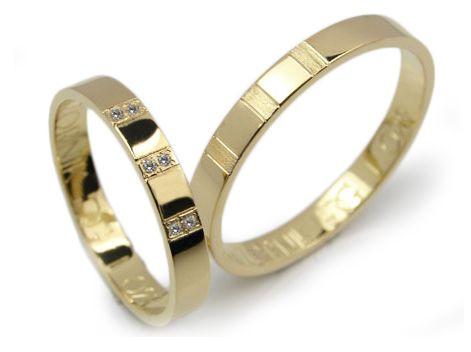 Goldrun Złote Obrączki Ślubne L029 Para Bezszwowe