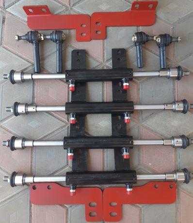 Гидроцилиндр двухсторонний,двухштоковый МТЗ 80,ЮМЗ,Т40,кронштейны