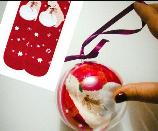 Оригинальный подарок Носки в праздничном шаре «Мишка», размер 36-40