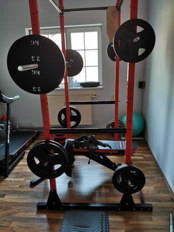 Domowa siłownia power rack ławka sztanga 283kg