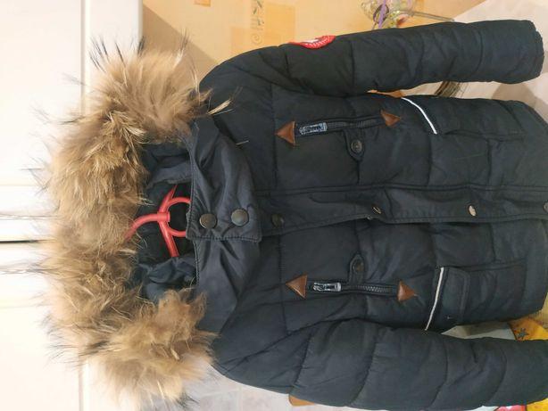 Куртка на мальчика зима 116 см