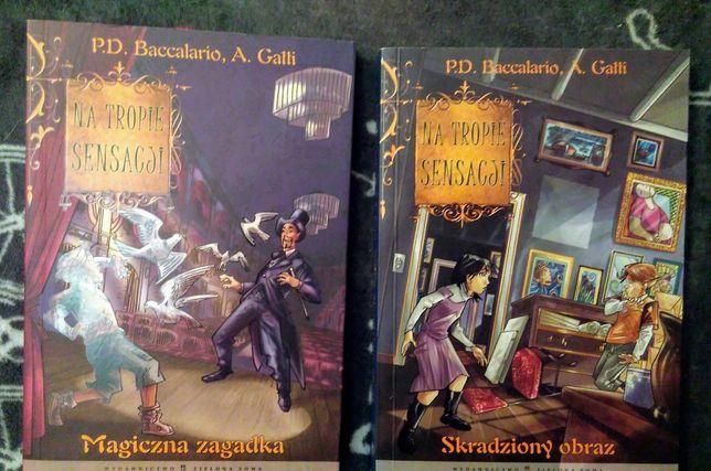 "P.D.Baccalario, A.Gatti ""Magiczna zagadka"" i ""Skradziony obraz"""
