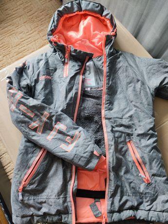 Cropp kurtka zimowa wodoodporna wiatroodporna puchowa z futerkiem S