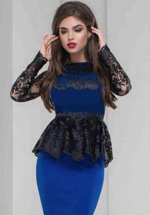 Вечернее платье по фигуре с баской, облегающее платье кружевное