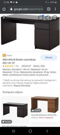 Biurko. Ikea malm. Okazja. Jak nowe