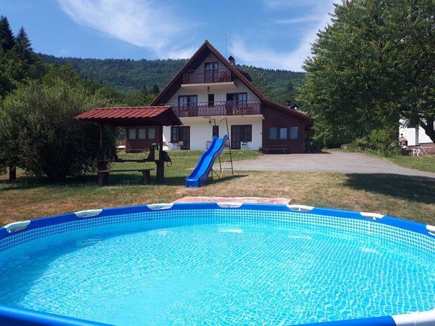 Pokoje, dom dla grup, w górach nad jeziorem, Międzybrodzie B., wakacje