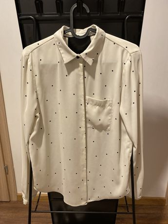 Zara bluzka koszula kropki r. S